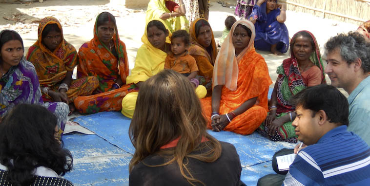 IDS researchers with participants in Freedom Fund supported activities, Northern India March 2015. Photo: G Baumann