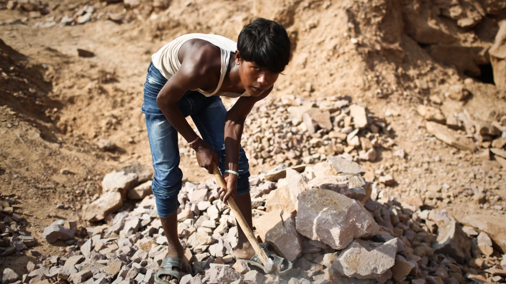 Stone Quarry, northern India. monitoring and evaluation.