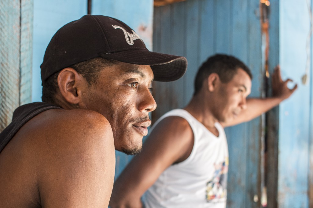 Two rescued workers from the Brazilian Amazon, Açailandia. Photo: Marcelo Cruz